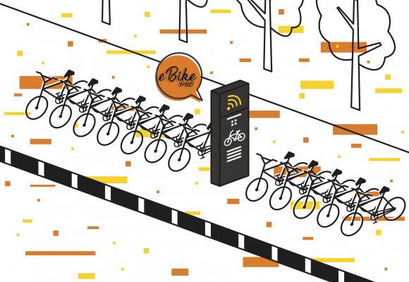 Solution de location de stations de chargement de vélos à assistance électriques